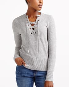 Lace-Up Sweater