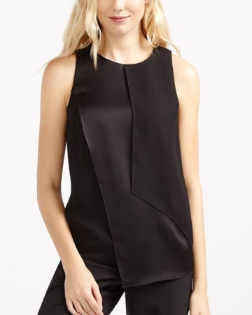 Willow & Thread Asymmetric Sleeveless Blouse