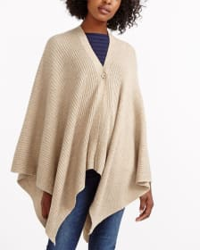 One Button Poncho