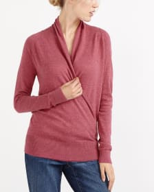 Rib Hem Wrap Sweater