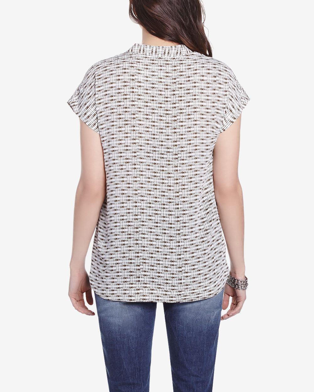 Zenobia Short Sleeve Printed Blouse 63