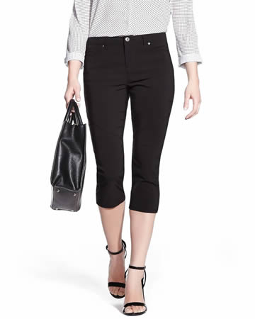 Petite Cropped Exact Stretch Pants