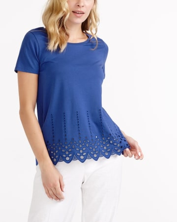 Short Sleeve Crochet T-Shirt