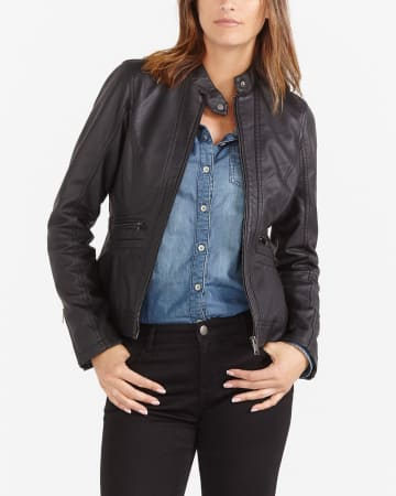 Faux Leather Jacket