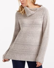 Buttoned-Collar Sweater