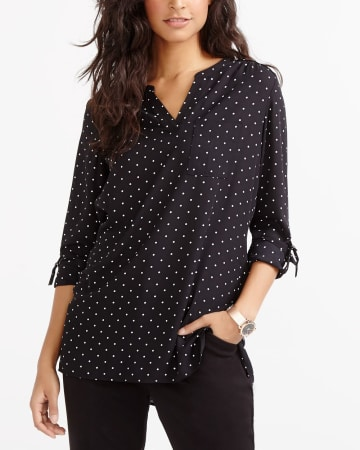 ¾ Adjustable Sleeve Printed Blouse
