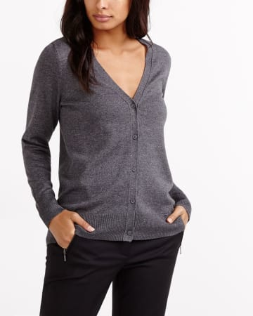 R Essentials Long Sleeve Cardigan