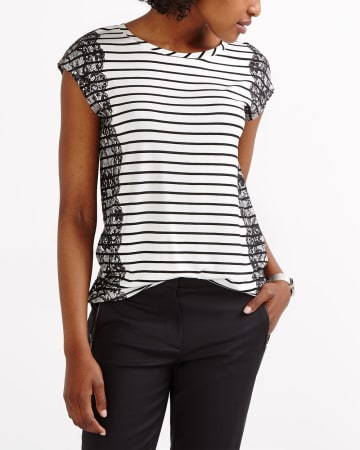 Striped Printed Tee