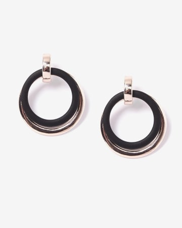 Layer Hoop Earrings With Silicone