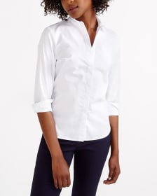 R Essentials Wrinkle-Free Solid Shirt