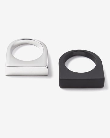 Set Of 2 Rings With Silicone