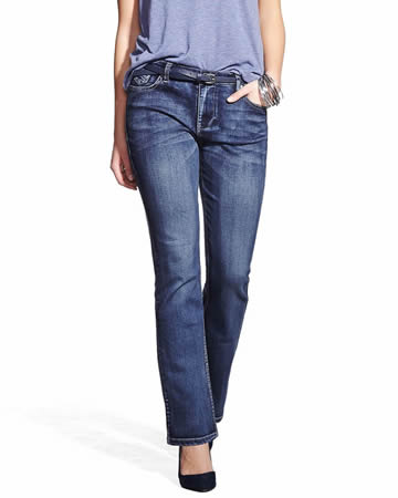 Petite Only Denim Boot Cut Jeans