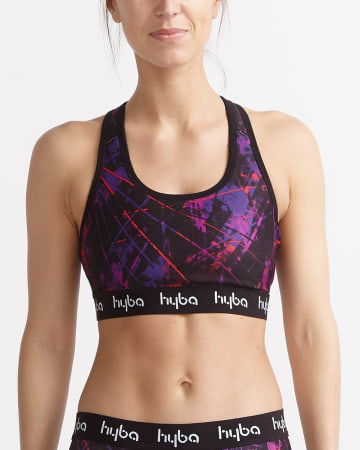 Hyba Printed Medium-Impact Sports Bra