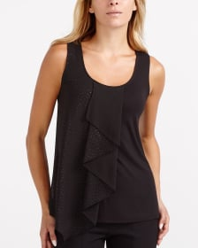 Sleeveless Frilled Top