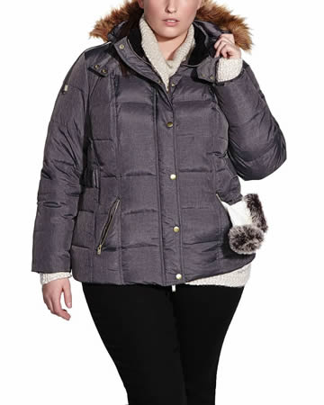 Plus Size Short Down Coat
