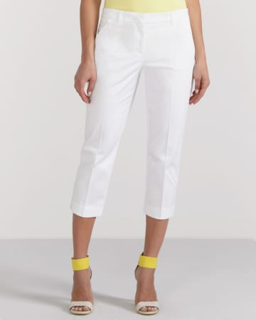 Petite Sateen Cropped Pants