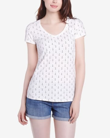 V-Neck Printed Tee