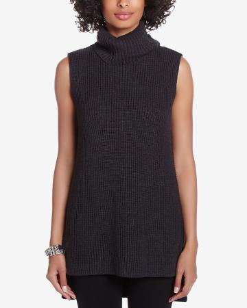 Turtleneck Sleeveless Tunic