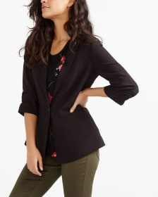 ¾ Sleeve Button Blazer