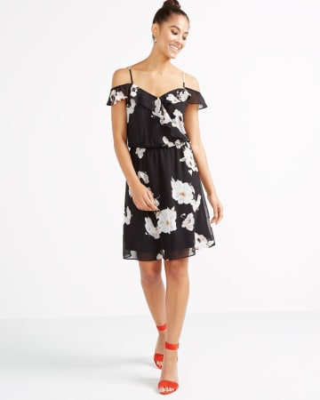 Cold-Shoulder Ruffle Sundress