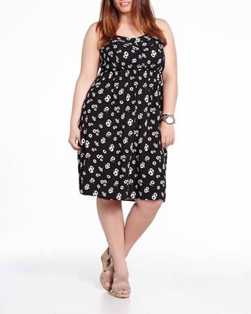 Plus Size Printed Sundress