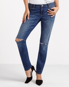 The Insider Slim Leg Jeans with Ripped Knees