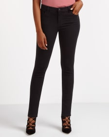 Skinny Jeans with Lace-Up Hem