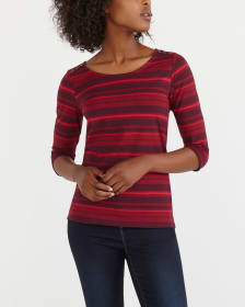 Semi-Fitted Striped Tee