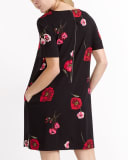 Challis Printed Swing Dress