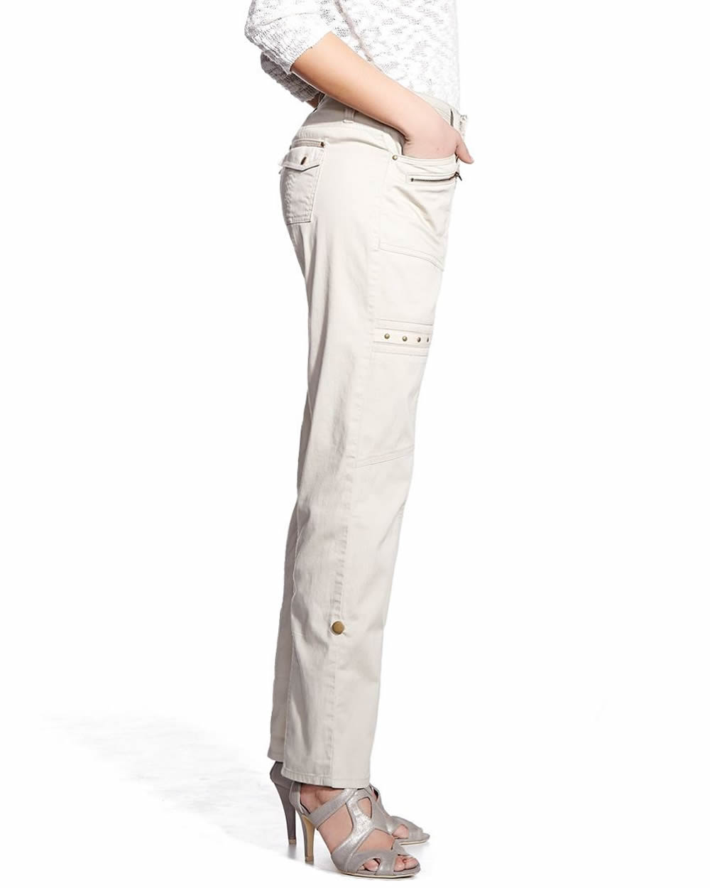 Model Laura Scott Women39s Petite39s Fleece Cargo Pants  Sears