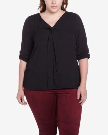 Plus Size 3/4 Sleeve T-Shirt