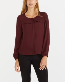 Long Sleeve Blouse with Ruffle Detail