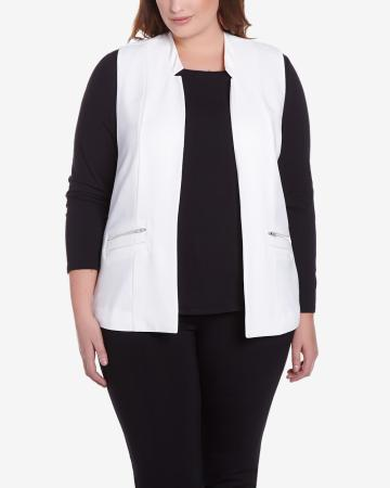 Rock & Shine Plus Size Sleeveless Blazer