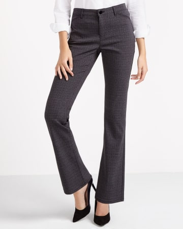 Boot Cut Exact Stretch Pants with Pattern