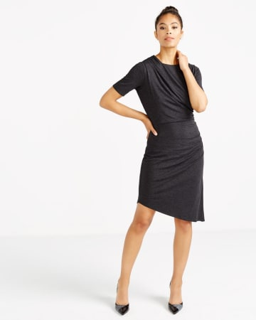 Short Sleeve Asymmetric Dress