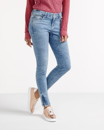 Petite Jeggings with Zip Hem