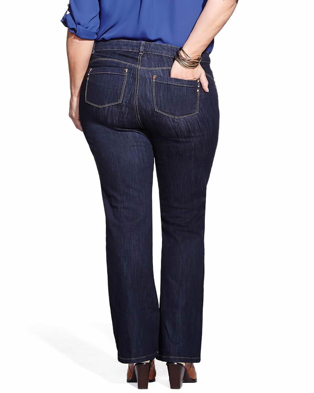 cut up plus size jeans - Jean Yu Beauty