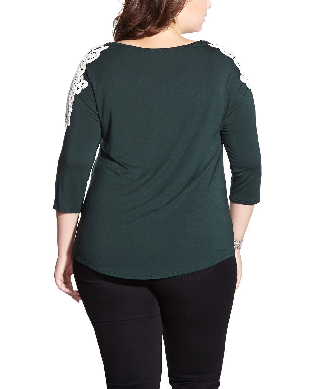 plus size 3 4 sleeve t shirt plus sizes reitmans