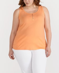 Plus Size Solid Tank Top