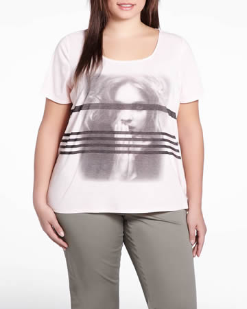Plus Size Short Sleeve Printed T-Shirt