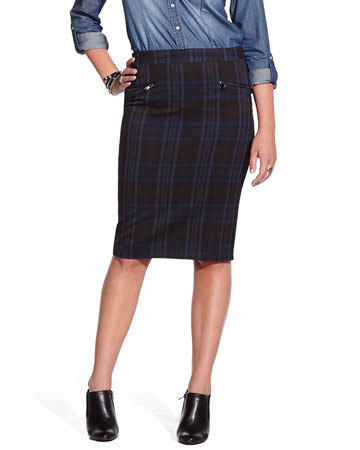 Pencil Skirt with Pattern