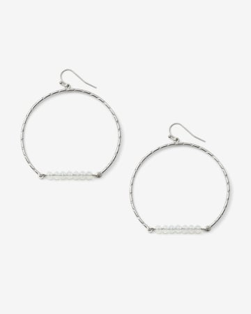 Hoop Earrings with Bead