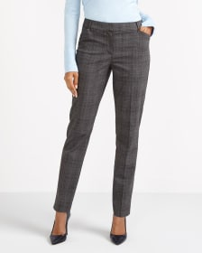 The Petite New Classic Plaid Pants