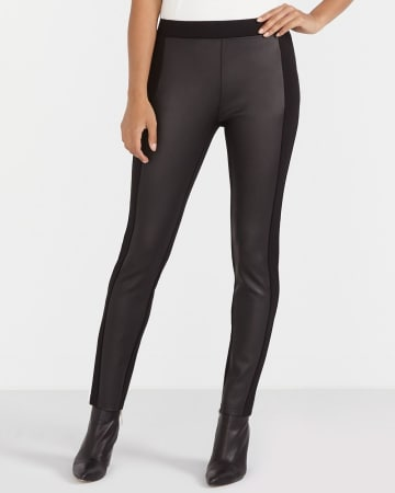 The Petite Modern Stretch Coated Leggings
