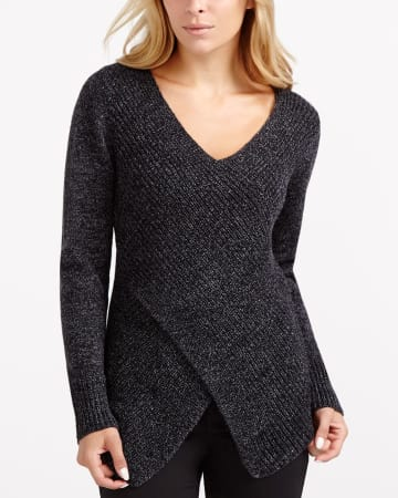Ribbed Criss Cross Pullover