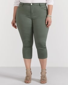 Plus Size Super Soft Jean Capris