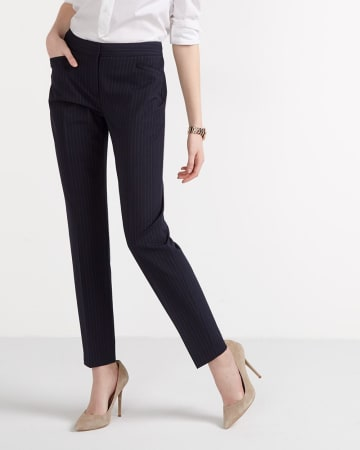 Willow & Thread Pinstripe Slim Leg Pants