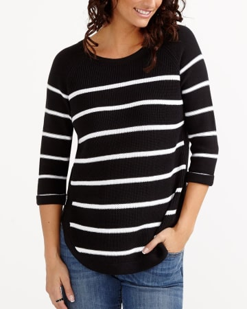 Striped Zip Sweater