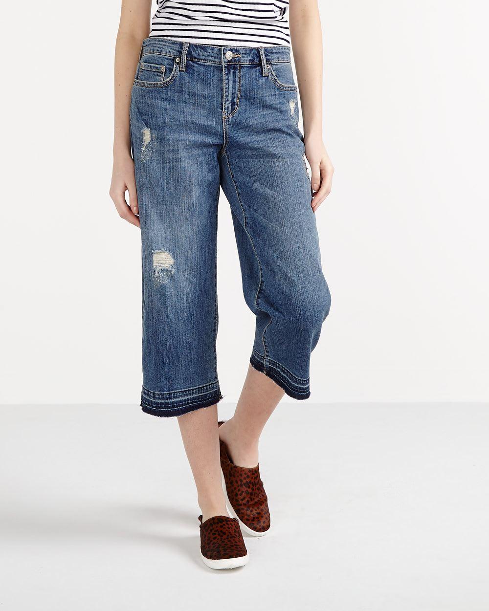jupe culotte en jeans femmes reitmans. Black Bedroom Furniture Sets. Home Design Ideas