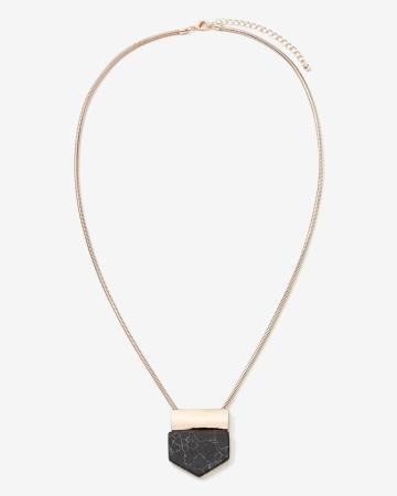 Willow & Thread Faux Marble Pendant Necklace